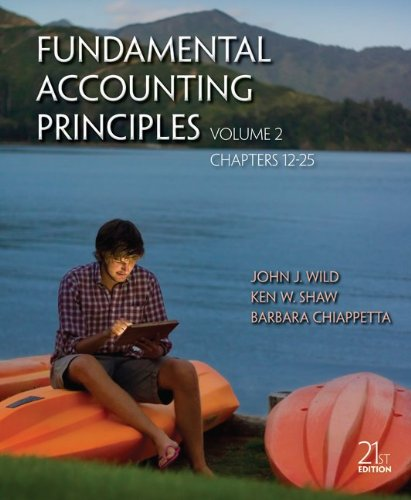 Fundamental Accounting Principles  21st 2013 edition cover