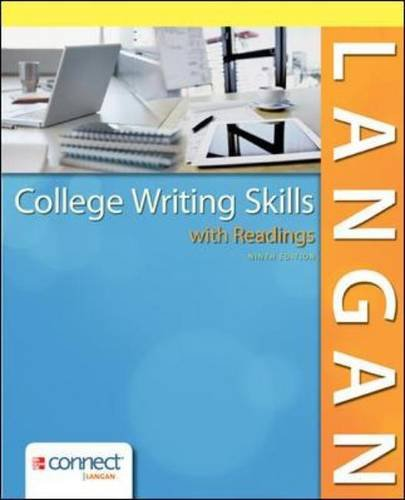 College Writing Skills with Readings  9th 2014 9780078036279 Front Cover