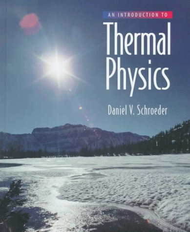 Introduction to Thermal Physics   2000 edition cover