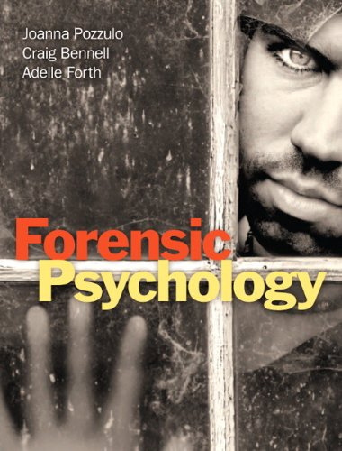 Forensic Psychology   2012 edition cover