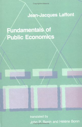 Fundamentals of Public Economics   1988 9780262121279 Front Cover