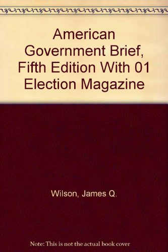 American Government with 2001 Election Magazine 5th 2000 (Brief Edition) 9780618212279 Front Cover