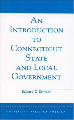 Introduction to Connecticut State and Local Government   2003 edition cover