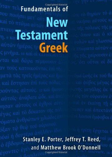 Fundamentals of New Testament Greek   2010 edition cover