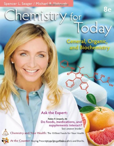 Chemistry for Today General, Organic, and Biochemistry 8th 2014 edition cover