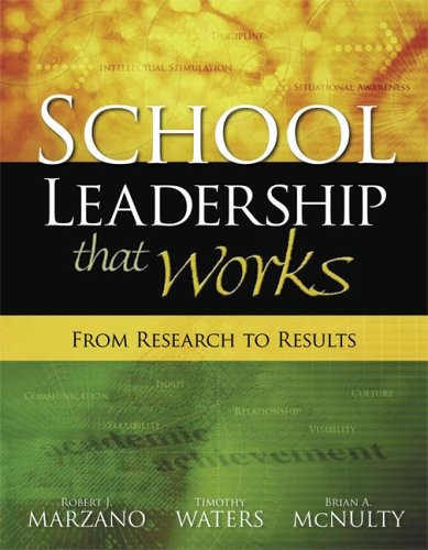 School Leadership That Works From Research to Results  2005 edition cover