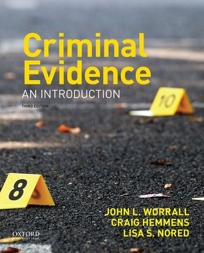Criminal Evidence An Introduction 3rd 2017 9780190639280 Front Cover