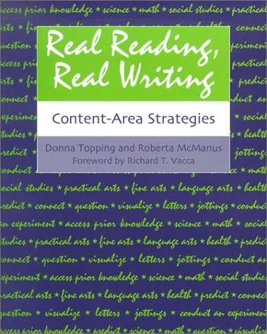 Real Reading, Real Writing Content-Area Strategies  2002 edition cover