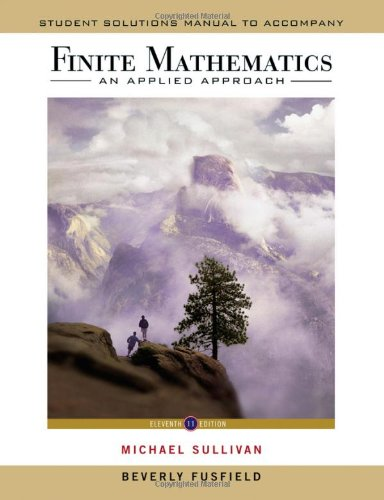 Finite Mathematics An Applied Approach 11th 2011 edition cover