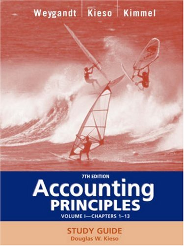 Accounting Principles, with PepsiCo Annual Report, Study Guide, Volume I, Chapters 1-13  7th 2005 edition cover