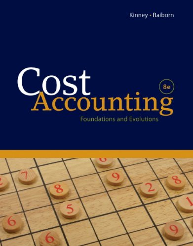 Cost Accounting  8th 2011 9780538798280 Front Cover