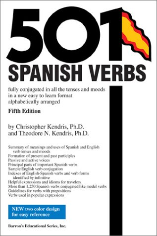 501 Spanish Verbs  5th 2003 edition cover