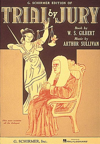 Trial by Jury Vocal Score N/A edition cover