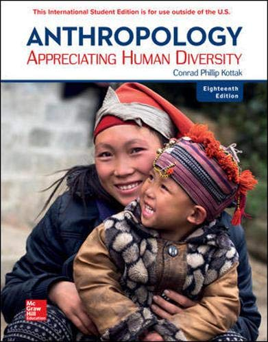 Anthropology Appreciating Human Diversity 18e 18th 9781260098280 Front Cover