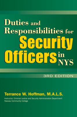 Duties and Responsibilities for Security Officers in New York State  3rd 2011 edition cover