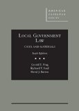 Local Government Law, Cases and Materials  6th 2015 edition cover