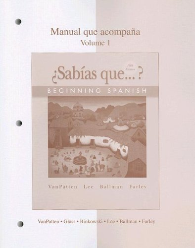 �Sabias Que... ? Beginning Spanish 5th 2008 edition cover