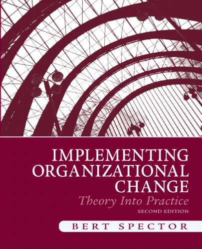 Implementing Organizational Change Theory into Practice 2nd 2010 edition cover
