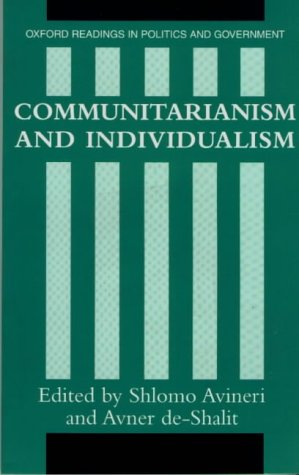 Communitarianism and Individualism   1992 edition cover
