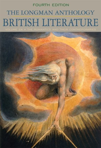 Longman Anthology of British Literature, Volume 2A The Romantics and Their Contemporaries 4th 2010 edition cover