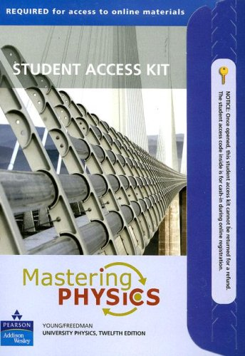 Mastering Physics: University Physics Student Access Kit  12th 2008 edition cover