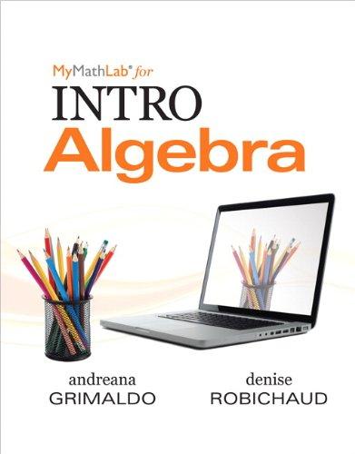 Intro Algebra   2013 (Revised) edition cover