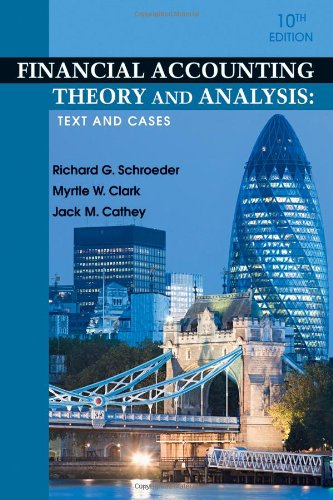 Financial Accounting Theory and Analysis Text and Cases 10th 2011 edition cover