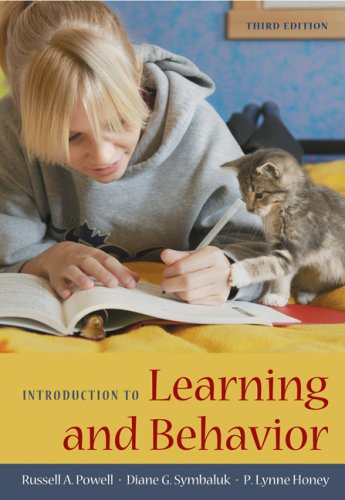 Introduction to Learning and Behavior  3rd 2009 edition cover