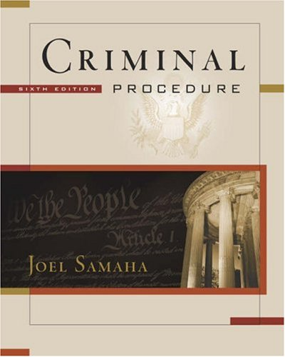 Criminal Procedure  6th 2005 (Revised) 9780534629281 Front Cover