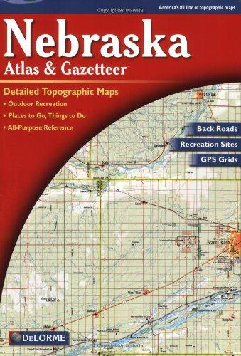 Nebraska Atlas and Gazetteer  2nd 2000 edition cover