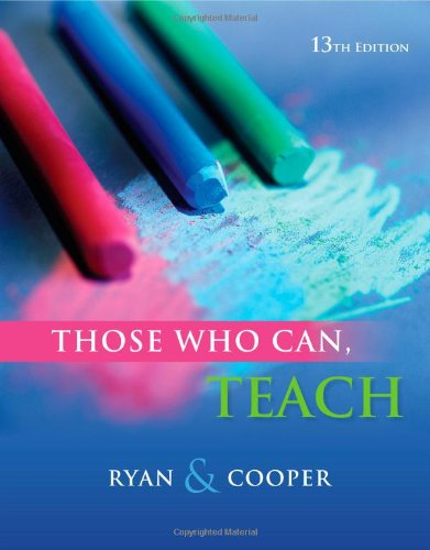 Those Who Can, Teach  13th 2013 edition cover