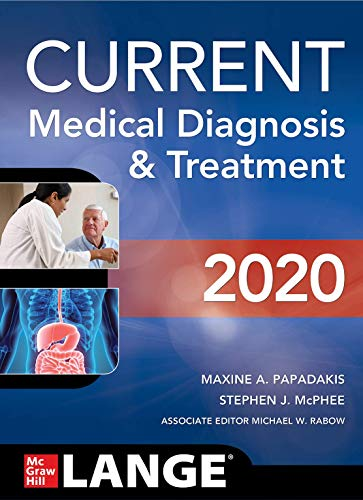 CURRENT Medical Diagnosis and Treatment 2020  59th 9781260455281 Front Cover
