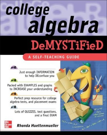 College Algebra Demystified   2004 edition cover