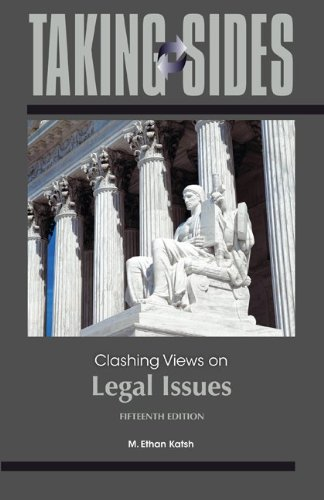 Taking Sides: Clashing Views on Legal Issues  15th 2012 edition cover