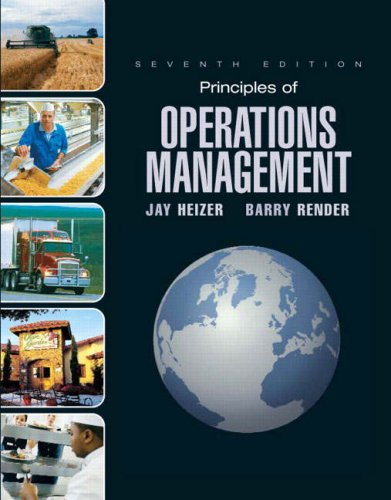 Principles of Operations Management  7th 2008 edition cover