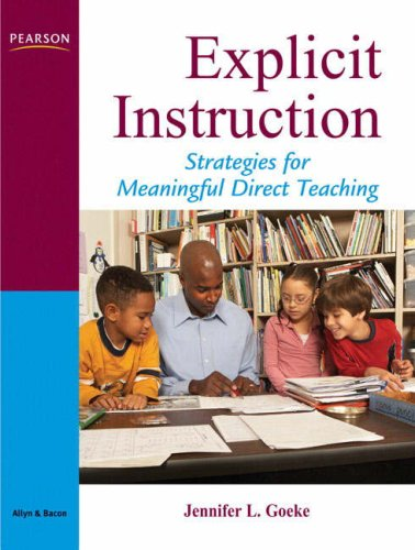 Explicit Instruction Strategies for Meaningful Direct Teaching  2009 edition cover