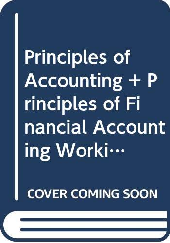 Principles of Accounting and Principles of Financial Accounting Working Papers Used with ... Needles-Principles of Accounting 8th 2002 9780618124282 Front Cover