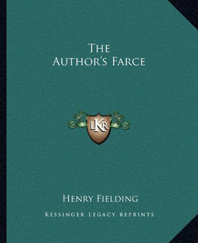 Author's Farce N/A 9781162688282 Front Cover