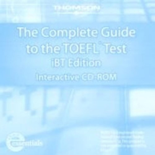 Complete Guide to the TOEFL Test, IBT: Interactive CD-ROM  4th 2007 (Revised) 9781413023282 Front Cover
