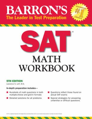 Barron's SAT Math Workbook, 5th Edition  5th 2012 (Revised) edition cover