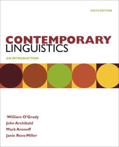 Contemporary Linguistics  6th 2010 edition cover