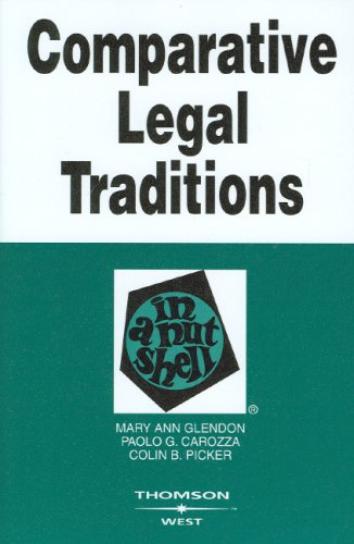 Comparative Legal Traditions  3rd 2008 (Revised) edition cover