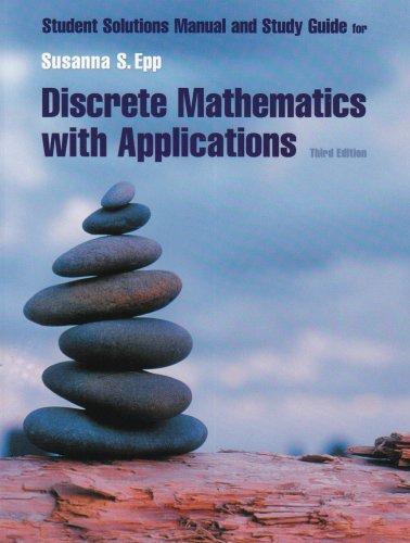 Discrete Mathematics  3rd 2004 (Student Manual, Study Guide, etc.) edition cover