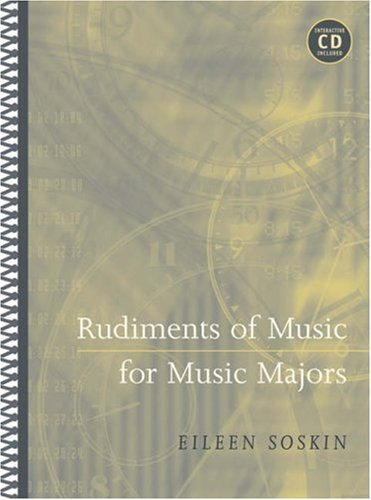 Rudiments of Music for Music Majors (with CD-ROM)   2005 9780534638283 Front Cover