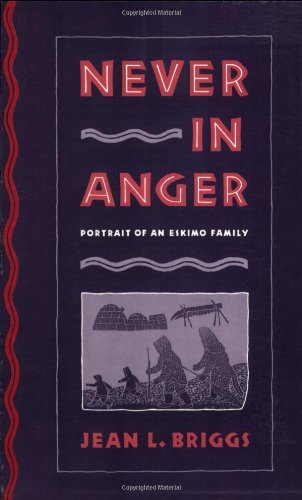 Never in Anger Portrait of an Eskimo Family  1970 edition cover