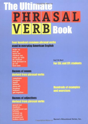 Ultimate Phrasal Verb Book  1999 9780764110283 Front Cover