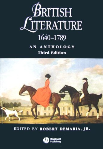 British Literature, 1640-1789 An Anthology 3rd 2007 (Revised) 9781405119283 Front Cover