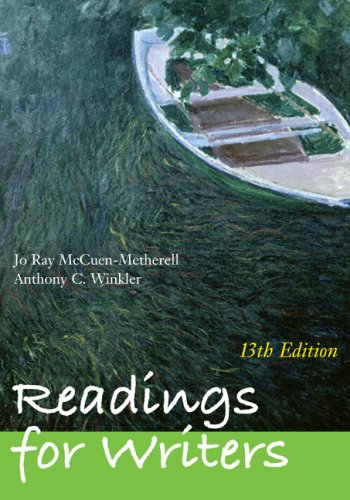 Readings for Writers  13th 2010 edition cover