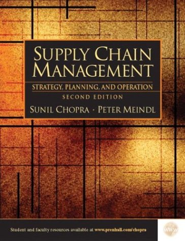 Supply Chain Management  2nd 2004 edition cover
