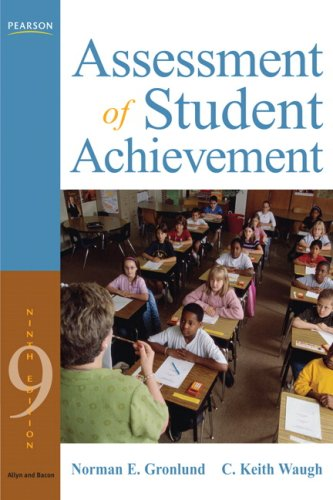 Assessment of Student Achievement  9th 2009 edition cover